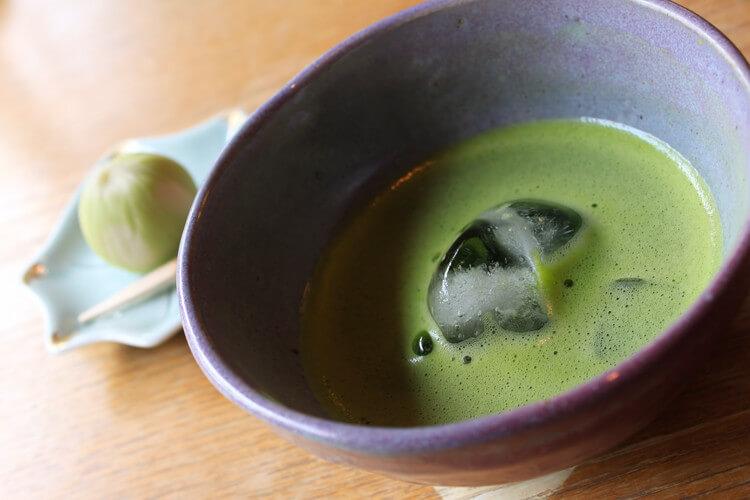 氷の抹茶の写真